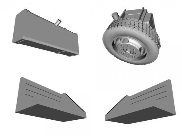 Zurüstsatz für Brekina Magirus-Haus-zu-Haus-LKW - 3D-Druck