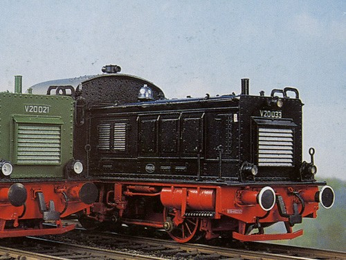 V20 Komplettbausatz DB, NEM-Radsätze, Mabuchi-Motor