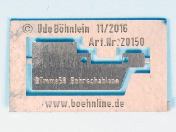 Zurüstsatz 1 für Brawa BTmms58 - Bohrschablone Aufstiegstritte