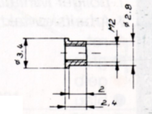 Setzmutter M2,0 zum Einkleben, Sechskant