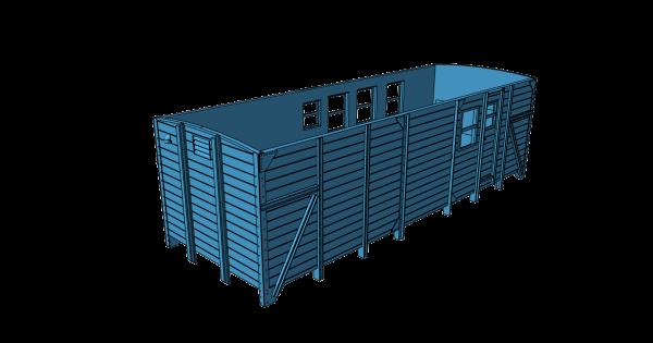 Teilesatz Bauzugwagen für Roco G10-Fahrwerk, Version 2 - 3D-Druck