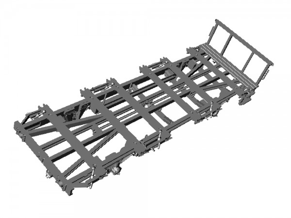 BT10 Haus-zu-Haus Behältertragwagcn Bausatz - 3D-Druck