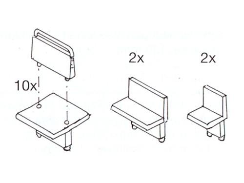 Sitze für (Schmalspur-)Personenwagen