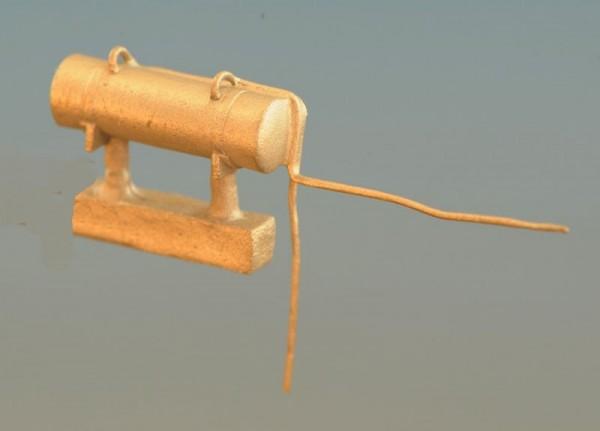 Luftkessel für Einheitsloks mit Leitungsabgängen, DRG, DB, DR - Spur TT