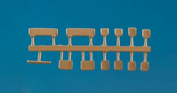 Trittstufen für Kessel, 2x mittel, 1x Scheitel, 2x groß, 8x klein