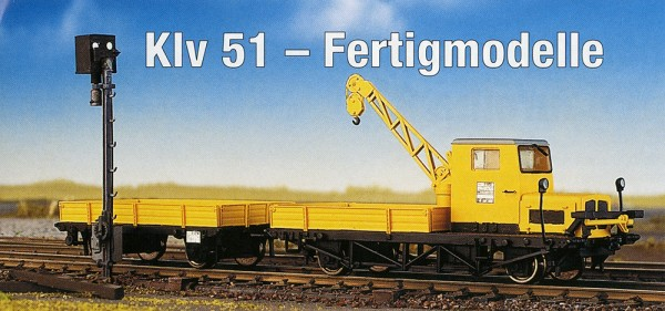Klv 51 Robel-Kran - Fertigmodell - gelb - Epoche IV