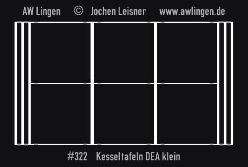 Kesseltafeln DEA klein - passend zu Gaßner G 395
