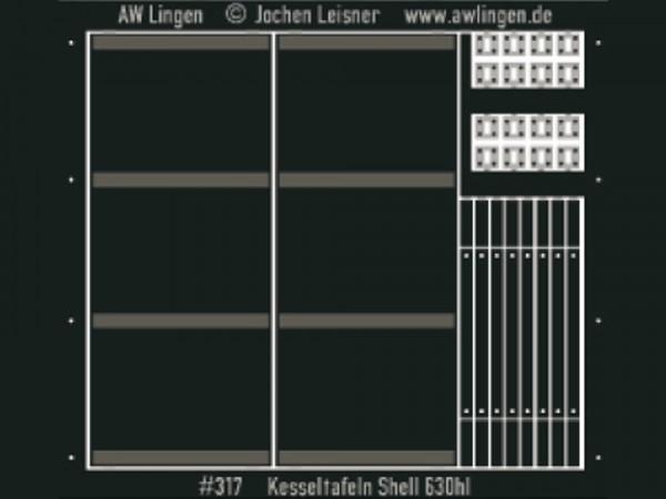 Kesseltafeln Shell für 630 hl Kesselwagen - passend zu Gaßner G 337