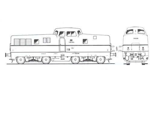 Beschriftungssatz V80, V90 der DB