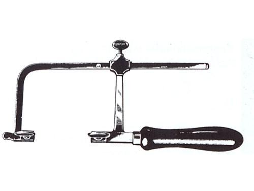 Uhrmacherlaubsäge, Bügeltiefe 80 mm