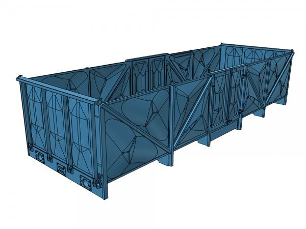 Omm34 Wagenkasten mit Blechwänden verbeult - 3D-Druck