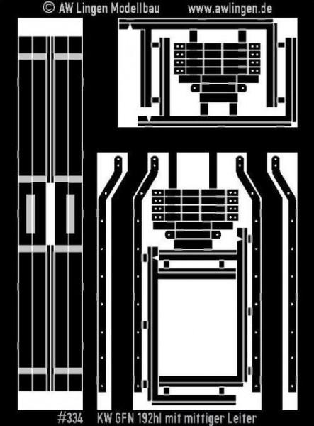 Kesselgeländer 192 hl Kesselwagen, mittige Leiter