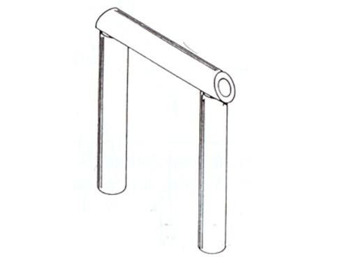 Gummischlauch schwarz, für Wagenübergänge, Länge 50 cm