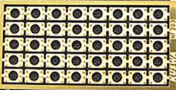 24 Paar Sockelplatten für Puffer