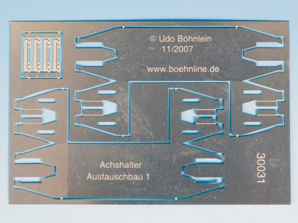 Achshalter mit Achshaltersteg Austauschbauart (ovale Sicken), mit Achshalterbrücke