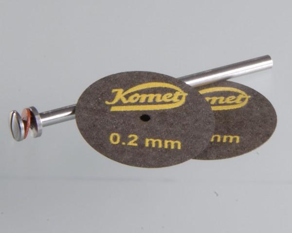 Trennscheiben 0,2 mm, Ø 22 mm, gewebeverstärkt (VE 2 Stk. u. Aufspanndorn)