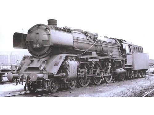 Baureihe 01 Altbaukessel, 01 012 bis 01 101, DRG, Tender 2'2'T32 genietet, Wagner-Windleitbleche