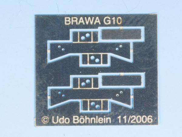 Zurüstsatz 6 für BRAWA-G10: Festpunktblock Verbandsbauart