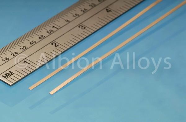 Federbronzestreifen 1 mm x 0,135 mm