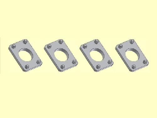 Spannplatte für Hochleistungspuffer - Bohrung 2,2 mm