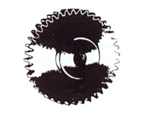 Zahnrad, Modul 0,4, 12 Zähne, Messing, Bohrung 2,00 mm