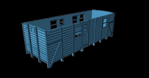 Teilesatz Bauzugwagen für Roco G10-Fahrwerk, Version 1 - 3D-Druck
