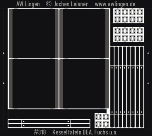 Kesseltafeln DEA, Fuchs und andere - z.B. passend zu Gaßner G 349
