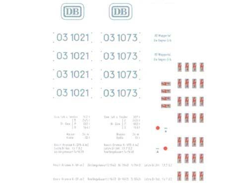 Schiebebildersatz für Baureihe 03.10 DB-Neubaukessel