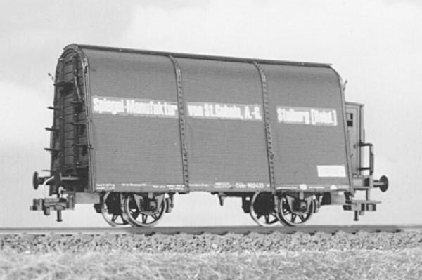 """Glastransportwagen """"Saint Gobain"""" - Umbausatz - KPEV Epoche 1 - Spur H0"""
