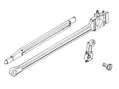 Kuppelstangen, Gleitbahn und Gegenkurbel mit Schraube, je 2