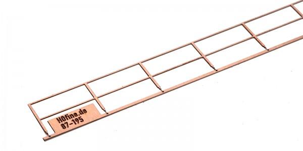 Ätzgeländer 87 mm, z.B. für Brücken
