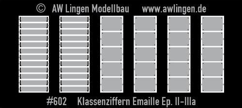 Klassenziffern und Raucher/Nichtraucher-Schilder - Emaille, Epoche IIIa