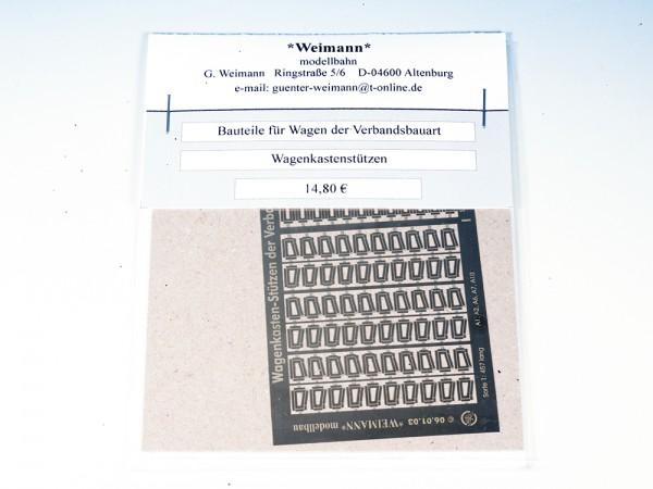 Bauteile für Wagen der Verbandsbauart: - Wagenkastenstützen geätzt, Bausatz