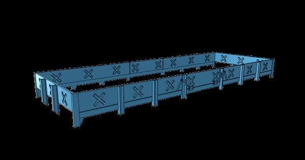 Xtmr 36 Aufbau für Gmrs 30 (Oppeln) - Fahrwerk - 3D-Druck- Spur 0