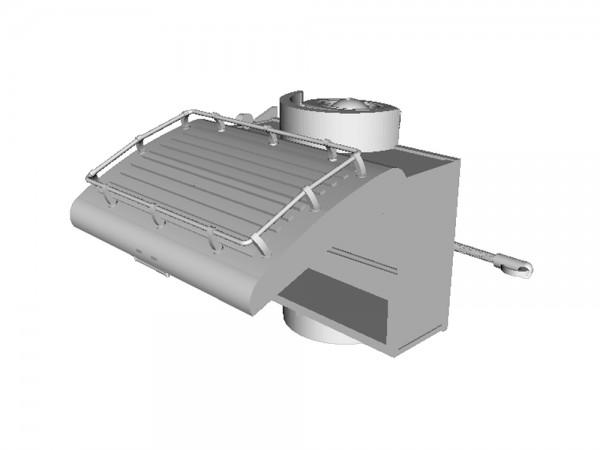 Westfalia PKW Anhänger Typ Mainz Deckel geöffnet - 3D-Druck