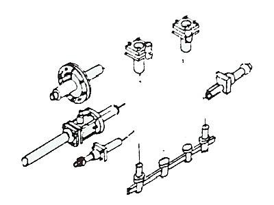 Zurüstteile für Zylinderblock Baureihe 41 (041, 042), 14 Teile
