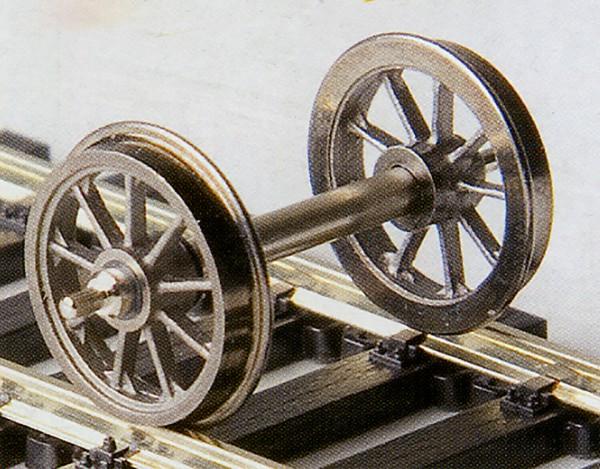 Weinert RP 25-Neusilber-Speichenradsätze 9 Speichen, Ø 11,5 mm