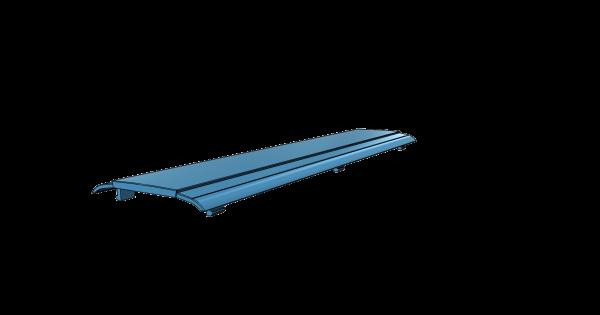 Dach für preußischen Abteilwagen ohne Laternenaufsatz für Roco-Modell - 3D-Druck