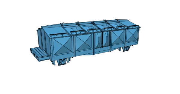 Bausatz Kmr35 - Klappdeckelwagen mit Handbremsstand - 3D-Druck