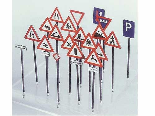 Hinweis- und Warnschilder