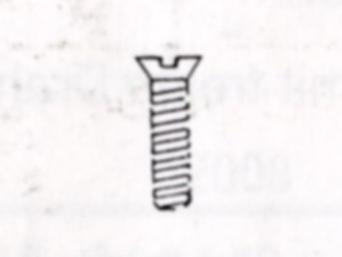M 1,0 mm ø x 2mm Messingschrauben nach DIN 963
